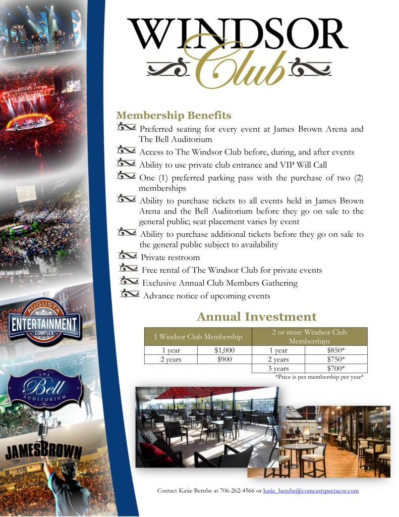 Windsor Club Membership Information 2016