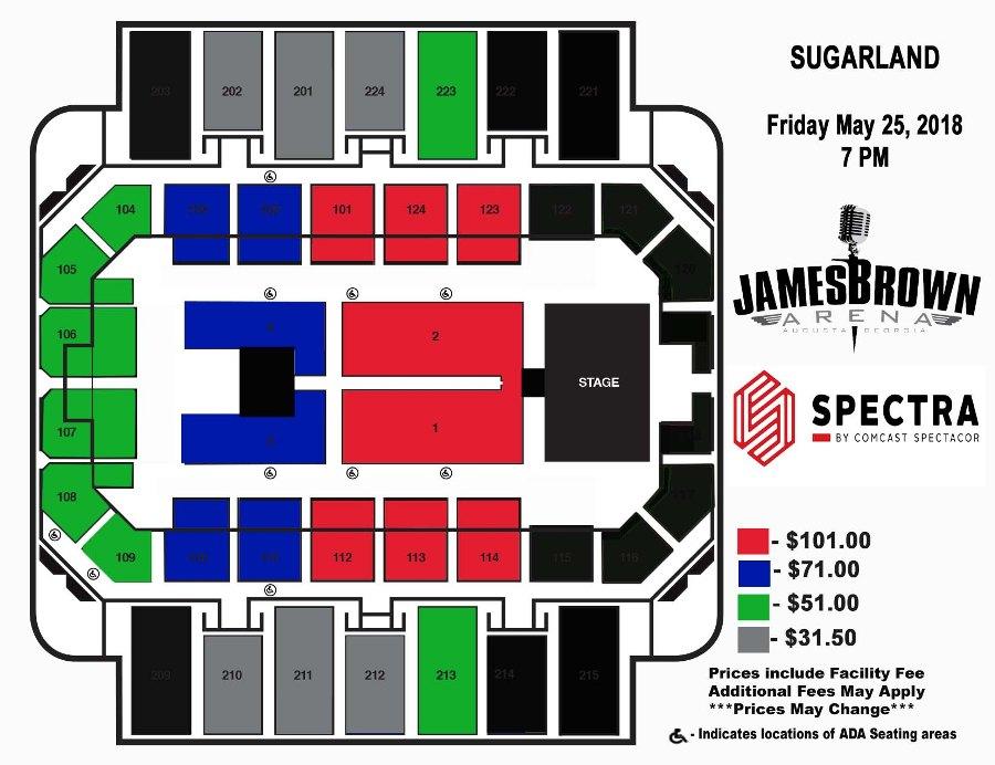 Augusta entertainment complex james brown arena bell auditorium