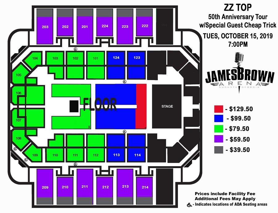 Augusta Entertainment Complex James Brown Arena Bell